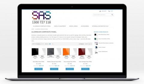 SAS Webstore Design & Front End Development